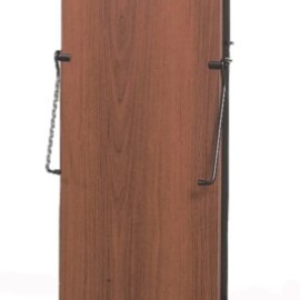 3300 Pants Press Valet Walnut Wood Effect with Black Trim