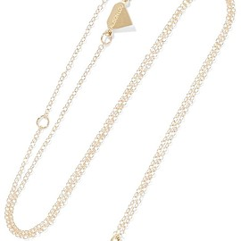 Alison Lou - Small Party Animal enameled 14-karat gold necklace