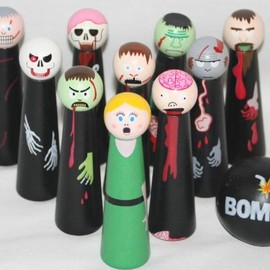 Front Porch Classics - Bowling Zombies Wooden Novelty Game