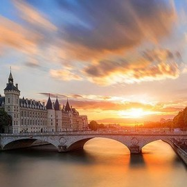 River Seine, Paris - Beautiful Sunset