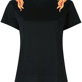 Paco Rabanne - flame patch T-shirt
