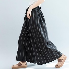 Black wide leg pants - cotton pants Women, cotton skirt pants, cotton wide leg pants, black maxi pants
