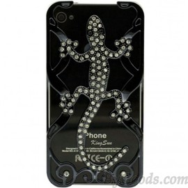 Cute Hollow Gecko Rhinestone Iphone Case for Iphone 4/4s/5