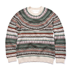 WHITE MOUNTAINEERING - JACQUARD KNIT NORDIC PATTERN PULLOVER