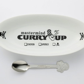 mastermind JAPAN x CURRY UP - 2012 Skull Plate And Spoon Set
