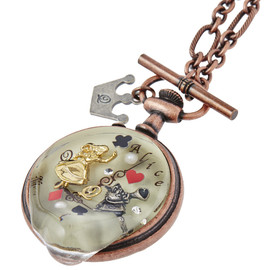 Q-pot Alice in Wonderland Melty Pocket Watch Necklace - アリス/メルティーポケットウォッチ ネックレス
