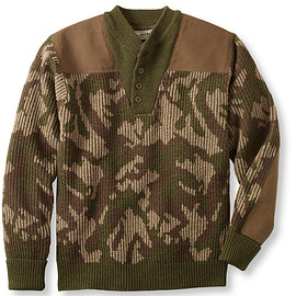 L.L.Bean - Commando Sweater, Camouflage Henley