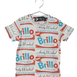 Andy Warhol by Hysteric Glamour for Kids - ORANGE BRILLOS総柄 T-SH