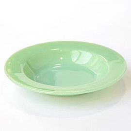 Fire King - Restaurant ware Jade-ite flat soup bowl フラットスープボウル