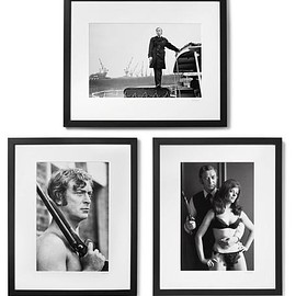 """Sonic Editions - Framed Get Carter Triptych Prints, 17"""" X 21"""""""