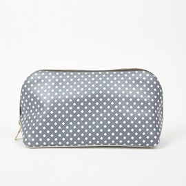 Nat Boyd - Grey Leather Wash Bag