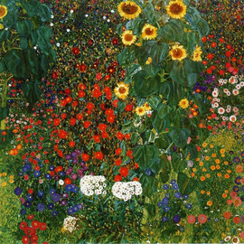Gustav Klimt - Farm Garden with Sunflowers, 1912