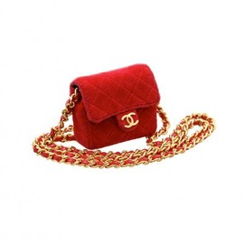 CHANEL - VINTAGE MINIMINI RED CHARM BAG