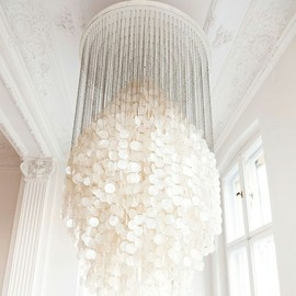 Mother of Pearl - FUN 8 DM Chandelier