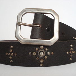 OLD STUD - LEATHER BELT