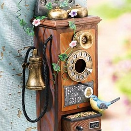 Old Time Phone Bird House