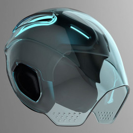 This has been tagged with #helmet #concept #tron