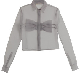CHRISTOPHER KANE - Bow front chiffon blouse