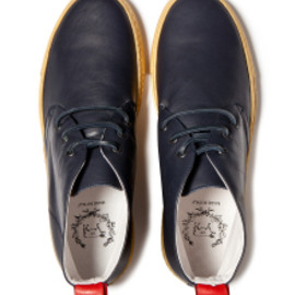 Del Toro - NAVY NAPPA ALTO CHUKKA WITH GOLD METALLIC MARGOM SOLE