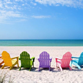Summer Vacation Beach Chairs
