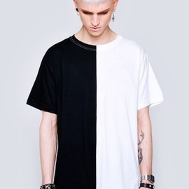 LONG CLOTHING - Long 2 Tone T-Shirt