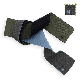 HERMES - Square knit tie, reversible to 4 colors