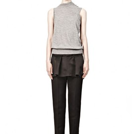 ALEXANDER WANG - PEPLUM FRONT TAILORED PANT WITH EXPOSED ZIPPER