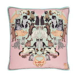 SILKEN FAVOURS - PRECIOUS PUSSIES LUXURY SILK CUSHION