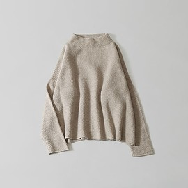 evam eva - wool angora high necked pullover