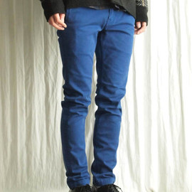 THREE BLIND MICE - STRETCH COLOR DENIM FL SKINNY PANTS [ROYAL BLUE]