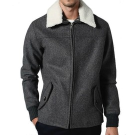 A.P.C. - anthracite bomber jacket APC WOOL BOMBER | WRONGWEATHER 30% SALE