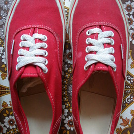 VANS - 70's Authentic red foxing stripe made in usa