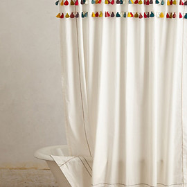 Anthropologie - Lindi fringe shower curtain