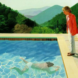 David Hockney - A painting