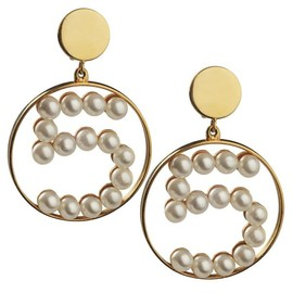 CHANEL - No.5 Earrings with Pearls.