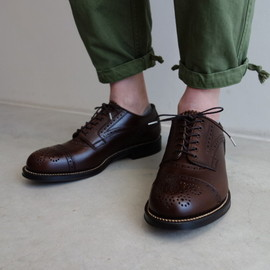 foot the coacher - MENDELL(LEATHER SOLE) / BROWN