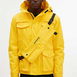 INGENIOUS - Detachable Waist Bag M-65 Quilted Jacket - Yellow