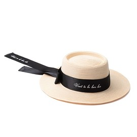 Her lip to - Long Ribbon Straw Hat