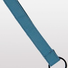 American Apparel - Leather Keychain lt blue