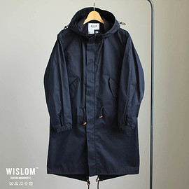 WISLOM - York - MOD'S COAT #d.navy/ristretto