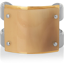 MARNI - Silver and gold-plated horn cuff