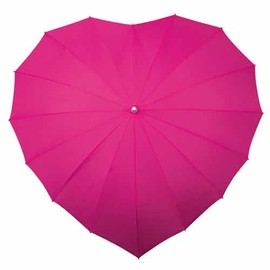 Heart Umbrella - Hot Pink