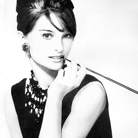 Natalie Portman as Audrey Hepburn (Holly Golightly)