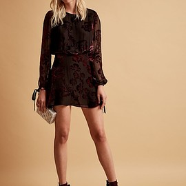 LPA - LPA Burnout Silk Mini Dress