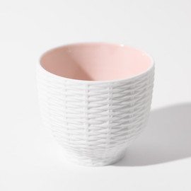 CEMENT PRODUCE DESIGN, Trace Face - Rattan Basket / pink