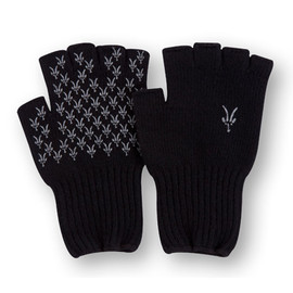 ibex - Knitty Gritty Fingerless Wool Glove Black