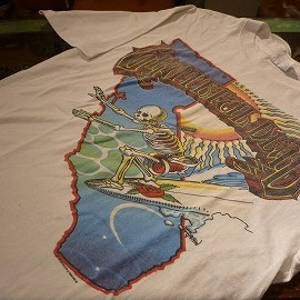"""Hanes - 「<used>'86 GRATEFUL DEAD OFFICIAL TEE white""""made in USA"""" size:L 10000yen」完売"""