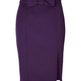 MOSCHINO CHEAP & CHIC - MOSCHINO CHEAP & CHIC/Wool Skirt with Bow