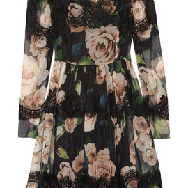 DOLCE&GABBANA - Floral-print silk-blend dress