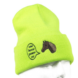 Chari&Co. NYC - HORSE POWER WATCH CAP NEON